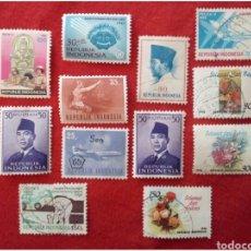 Sellos: LOTE 12 SELLOS DE INDONESIA N167. Lote 91630607