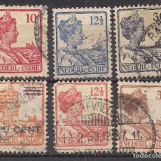 Francobolli: INDONESIA, INDIA HOLANDESA - WIHELMINA - USADO. Lote 99959955
