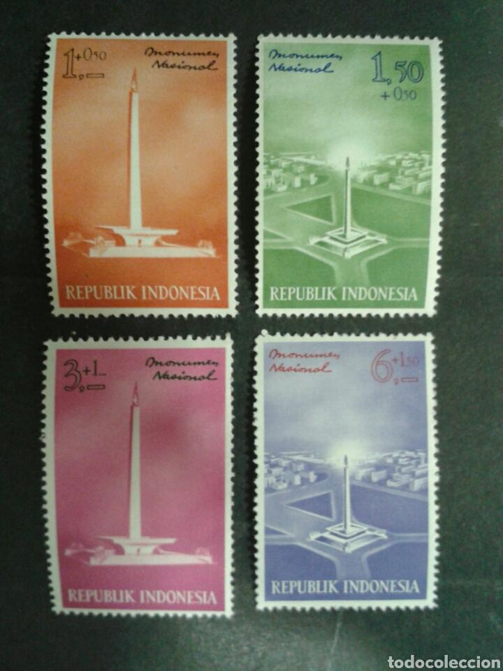 INDONESIA. YVERT 310/1. SERIE COMPLETA NUEVA CON CHARNELA. MONUMENTO NACIONAL (Sellos - Extranjero - Asia - Indonesia)