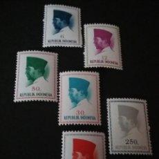 Sellos: SELLOS DE R. INDONESIA NUEVOS. 1964. PRESIDENTE SUKARNO. PERSONALIDADES. RETRATO. Lote 107639140