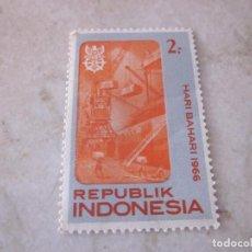 Sellos: SELLO INDONESIA 2 R UPIAS HARI BAHARI 1966. Lote 108850667