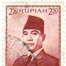 Sellos: 1953 - INDONESIA - SUKARNO - YVERT 65. Lote 115444007