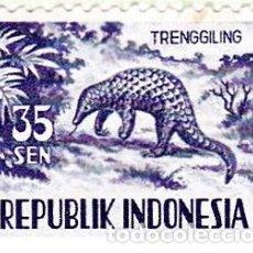 Sellos: 1956-58 - INDONESIA - FAUNA - PANGOLIN - YVERT 123. Lote 115445219