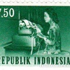 Sellos: 1964 - INDONESIA - TRANSPORTE Y COMUNICACIONES - TELETIPO - YVERT 384. Lote 115447831