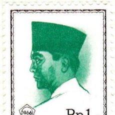 Sellos: 1966-67 - INDONESIA - SUKARNO - YVERT 465. Lote 115452391