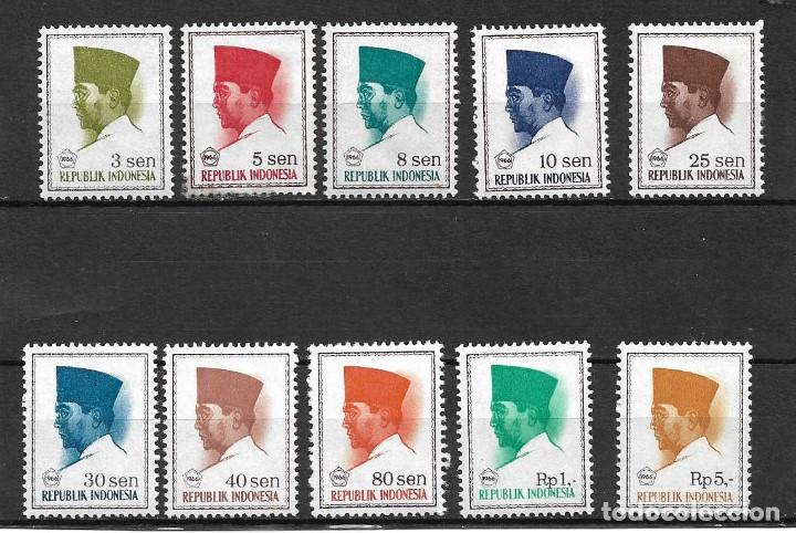 GENERAL SUKARNO. INDONESIA. SELLOS AÑOS 1966/7 (Sellos - Extranjero - Asia - Indonesia)