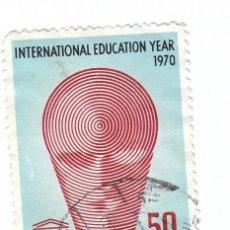 Sellos: CURIOSO SELLO. AÑO INTERNACIONAL DE LA EDUCACIÓN, UNESCO, 1970. REPÚBLICA INDONESIA.. Lote 127223067