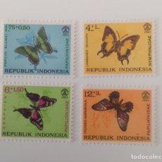 Sellos: LOTE DE 4 SELLOS NUEVOS INDONESIA- MARIPOSAS. Lote 130938411