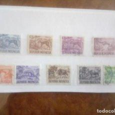 Sellos: INDONESIA 1956/58, FAUNA . Lote 134263954