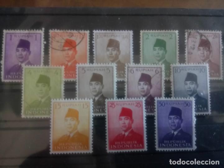INDONESIA 1951/53, PRESIDENTE SUKARNO (Sellos - Extranjero - Asia - Indonesia)