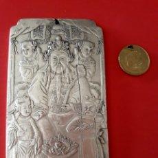 Sellos: EXCLUSIVO Y ANTIGUO LINGOTE DE PLATA TIBETANA CON SABIO. Lote 138101038
