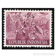 Sellos: INDONESIA 1960. MI 271, YT 217. AGRICULTURA. CAFÉ. USADO. Lote 142137262