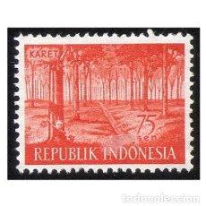 Sellos: INDONESIA 1960. MI 275, YT 221. AGRICULTURA. CAUCHO KAARET. USADO. Lote 142137462