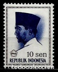 INDONESIA SCOTT: 672-(1966) (PRESIDENTE SUKARNO) NUEVO (Sellos - Extranjero - Asia - Indonesia)