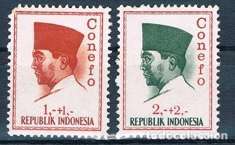REPUBLICA DE INDONESIA 1965 YVES 411/414 MH* (Sellos - Extranjero - Asia - Indonesia)