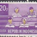 Sellos: INDONESIA - UN SELLO - IVERT #577 -***PLAN DE DESARROLLO DE CINCO AÑOS***- AÑO 1969 - USADO. Lote 158291602