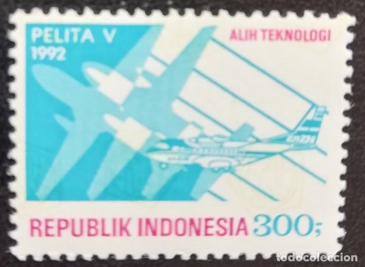 1992. AVIONES. INDONESIA. 1287. SILUETAS DE AVIÓN. NUEVO. (Sellos - Extranjero - Asia - Indonesia)