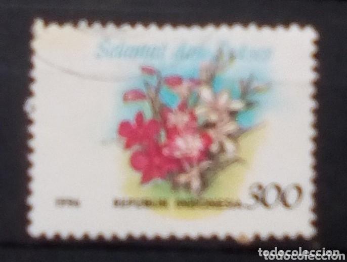 INDONÈSIA FLORES SELLO USADO (Sellos - Extranjero - Asia - Indonesia)