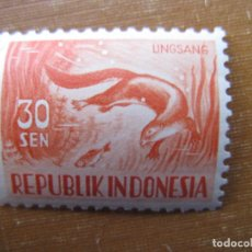 Sellos: -INDONESIA 1956, YVERT 122A. Lote 184377850