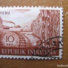 Sellos: -INDONESIA 1960, YVERT 216. Lote 184378463