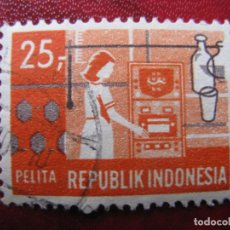 Sellos: -INDONESIA 1969, PLAN QUINQUENAL, YVERT 578. Lote 184565215