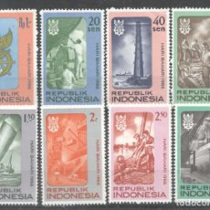 Sellos: INDONESIA 1966 NAVIGATION DAY, 2 SETS, MH AS.092. Lote 198271375