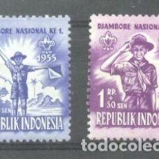 Sellos: INDONESIA 1955 SCOUTING, MNH AM.001. Lote 198271997
