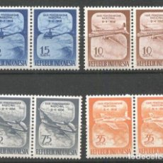 Sellos: INDONESIA 1958 AVIATION X 2, MNH AG.037. Lote 198272082