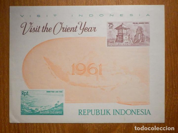 HOJITA - SELLOS - REPÚBLICA DE INDONESIA - AÑO 1961 - NUEVOS - VISIT - ORIENT YEAR (Sellos - Extranjero - Asia - Indonesia)