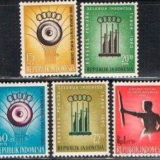 Sellos: INDONESIA Nº 289/93, CONFERENCIA DE LA JUVENTUD DE INDONESIA EN BANDUNG, NUEVO CON SEÑAL DE CHARNELA. Lote 215286520