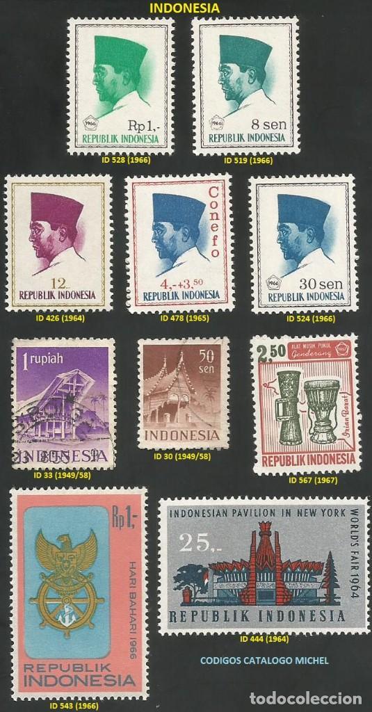INDONESIA 1949 A 1967 - LOTE VARIADO (VER IMAGEN) - 10 SELLOS NUEVOS Y USADOS (Sellos - Extranjero - Asia - Indonesia)