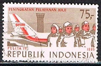INDONESIA Nº 1208, 4º PLAN QUINQUENAL, SERVICIOS AEREOS, USADO (Sellos - Extranjero - Asia - Indonesia)