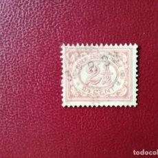 Sellos: INDIAS HOLANDESAS - INDONESIA - VALOR FACIAL 2 1/2 CENT - NUMERAL, TASA.. Lote 221998656