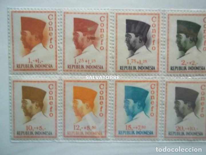 Sellos: SELLOS INDONESIA. SUKARNO.SURABAYA.SERIE COMPLETA. 15 SELLOS. 1965 - Foto 2 - 222329851