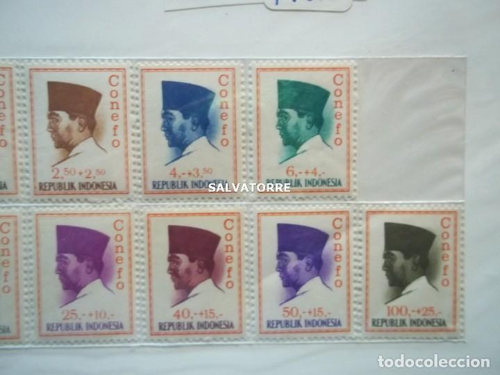 Sellos: SELLOS INDONESIA. SUKARNO.SURABAYA.SERIE COMPLETA. 15 SELLOS. 1965 - Foto 4 - 222329851