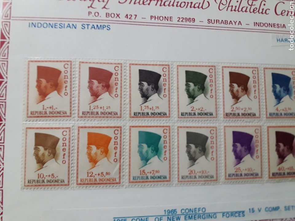 Sellos: SELLOS INDONESIA. SUKARNO.SURABAYA.SERIE COMPLETA. 15 SELLOS. 1965 - Foto 6 - 222329851