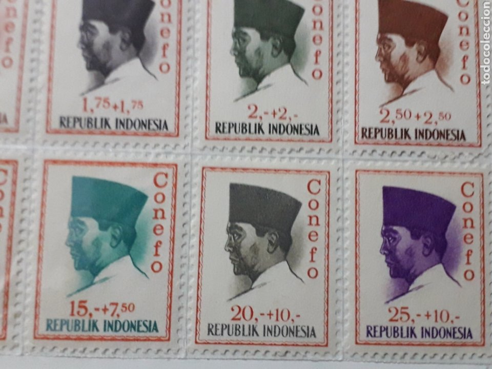 Sellos: SELLOS INDONESIA. SUKARNO.SURABAYA.SERIE COMPLETA. 15 SELLOS. 1965 - Foto 8 - 222329851