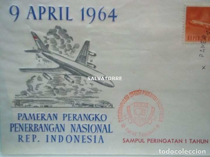 INDONESIA REPUBLIK,2. SOBRE. 9 ABRUIK 1964.PAMERAN PERANGKO PENERGANGAN NASIONAL. (Sellos - Extranjero - Asia - Indonesia)