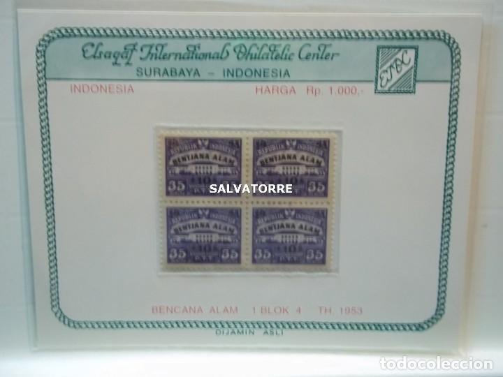 REPUBLIK INDONESIA.BENTJANA ALAM.KANTOR PUSAT.P.T.T. 35. 1953. (Sellos - Extranjero - Asia - Indonesia)