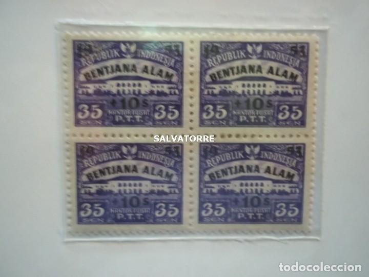 Sellos: REPUBLIK INDONESIA.BENTJANA ALAM.KANTOR PUSAT.P.T.T. 35. 1953. - Foto 2 - 222339155