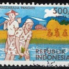 Francobolli: INDONESIA 1986 - 4º PLAN QUINQUENAL - USADO. Lote 222774435