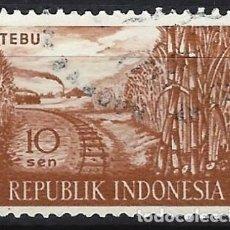 Selos: INDONESIA 1960 - PRODUCTOS AGRÍCOLAS - USADO. Lote 222790738