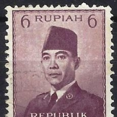 Selos: INDONESIA 1953 - PRESIDENTE SUKARNO - USADO. Lote 222791083