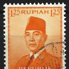 Selos: INDONESIA 1953 - PRESIDENTE SUKARNO - USADO. Lote 222791190