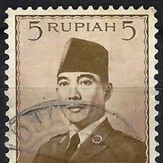 Selos: INDONESIA 1951 - PRESIDENTE SUKARNO - USADO. Lote 222791382