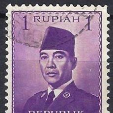Selos: INDONESIA 1951 - PRESIDENTE SUKARNO - USADO. Lote 222791555