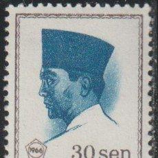 Sellos: INDONESIA 1966 SCOTT 676 SELLO ** PERSONAJES PRESIDENTE SUKARNO MICHEL 524 YVERT 461 STAMPS TIMBRE. Lote 226352615
