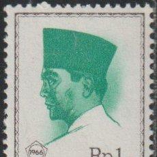 Sellos: INDONESIA 1966 SCOTT 680 SELLO ** PERSONAJES PRESIDENTE SUKARNO MICHEL 528 YVERT 465 STAMPS TIMBRE. Lote 226352698
