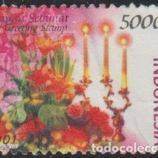Sellos: INDONESIA 2001 SCOTT 1944 SELLO º FLORA FLORES LAMPARAS Y VELAS MICHEL 2107 YVERT 1876 STAMPS TIMBRE. Lote 226353505
