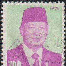 Sellos: INDONESIA 1990 SCOTT 1268 SELLO º PERSONAJES PRESIDENTE SUHARTO MICHEL 1343 YVERT 1218 STAMPS TIMBRE. Lote 226355355